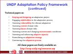undp adaptation policy framework continued