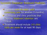 successful outpatient treatment predictors