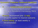 successful outpatient treatment predictors1