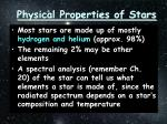 physical properties of stars1