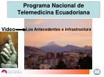 programa nacional de telemedicina ecuadoriana