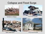 collapse and flood surge