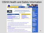 osha health and safety information
