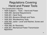 regulations covering hand and power tools