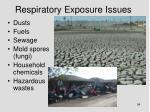 respiratory exposure issues