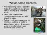 water borne hazards
