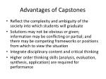 advantages of capstones