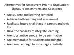alternatives for assessment prior to graduation signature assignments and capstones