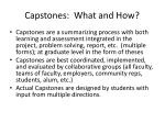 capstones what and how