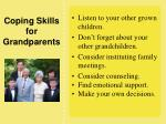 coping skills for grandparents