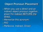 object pronoun placement2