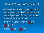 object pronoun placement7