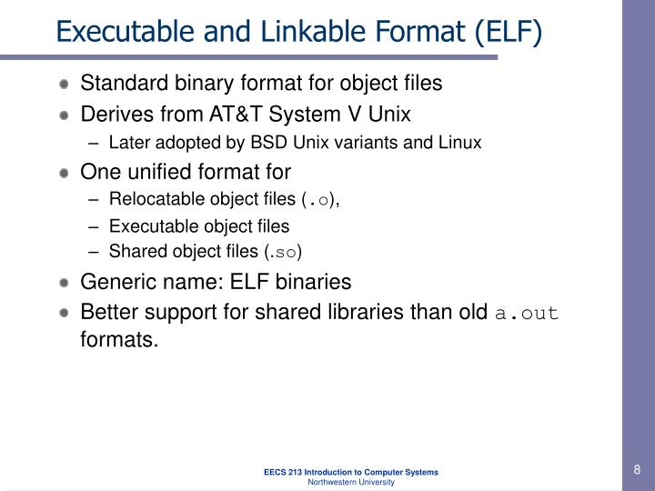 Executable and Linkable Format (ELF)