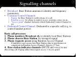signalling channels