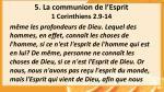 5 la communion de l esprit 1 corinthiens 2 9 14