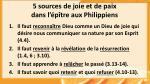 5 sources de joie et de paix dans l p tre aux philippiens
