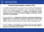 il sistema di protezione sociale in fvg