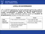 livelli di governance