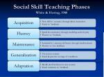 social skill teaching phases white haring 1980
