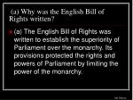 a why was the english bill of rights written