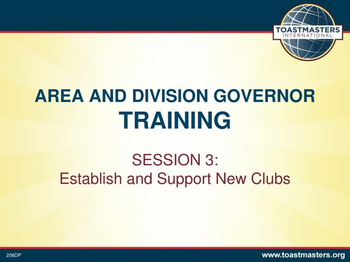 area and division governor training n.
