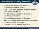 conclusion closing remarks
