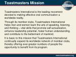toastmasters mission