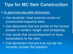tips for mc item construction7