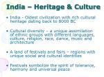 india heritage culture