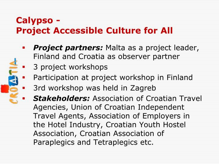 calypso project accessible culture for all n.