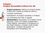 calypso project accessible culture for all
