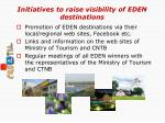 initiatives to raise visibility of eden destinations1