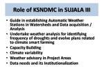 role of ksndmc in sujala iii