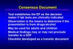 consensus document