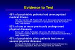 evidence to test