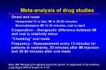 meta analysis of drug studies1