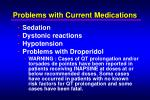 problems with current medications