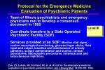 protocol for the emergency medicine evaluation of psychiatric patients