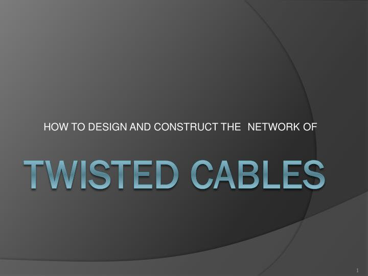 of network how to design and construct the n.