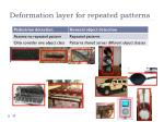 deformation layer for repeated patterns1