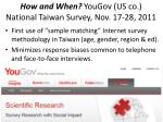 how and when yougov us co national taiwan survey nov 17 28 2011