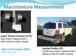 macrotexture measurement