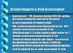 actual impacts risk assessment