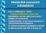 climate risk assessment in bangladesh