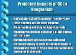 projected impacts of cc in bangladesh