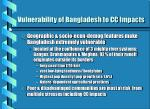 vulnerability of bangladesh to cc impacts
