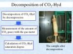 decomposition of co 2 hyd