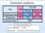 formation conditions