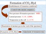 formation of co 2 hyd