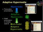 adaptive hypermedia